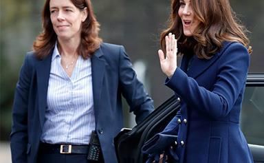 Flower Power: Duchess Kate dazzles during school visit