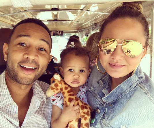 Chrissy Teigen has been mummy-shamed over photo with daughter Luna (once again)