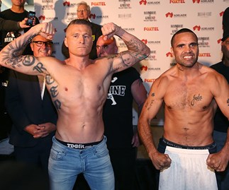 Danny Green and Anthony Mundine