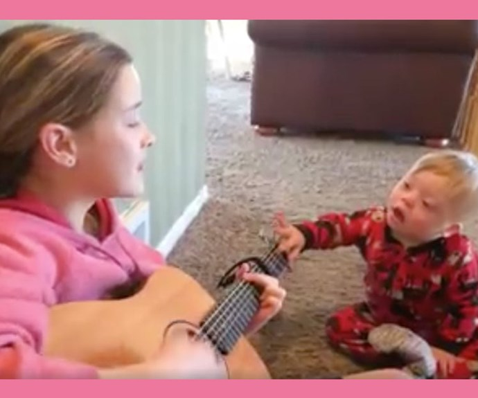 Boy with Down syndrome sings 'You Are My Sunshine' with his sister and fills our hearts with joy