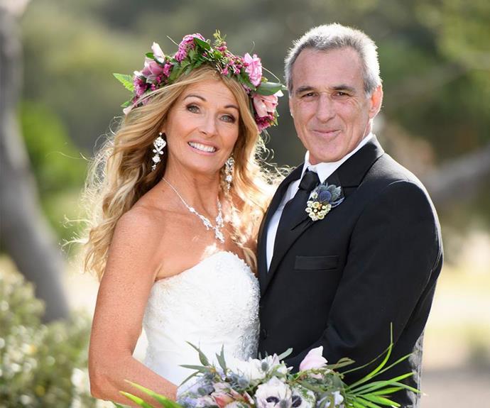 John and Debbie were married in a beach wedding.