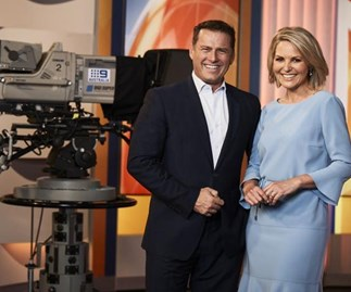 Karl Stefanovic and Georgie Gardener