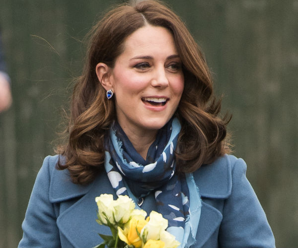 Kate Middleton Bundles Up Her Bump in Baby Blue Coat