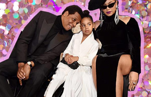 Beyonce and Blue Ivy support Jay Z
