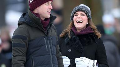 Prince William and Duchess Kate show their competitive side as they kick off royal tour