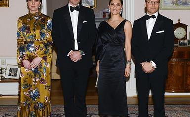 Prince William & Duchess Catherine just had the most glamorous dinner party with the Swedish Royals