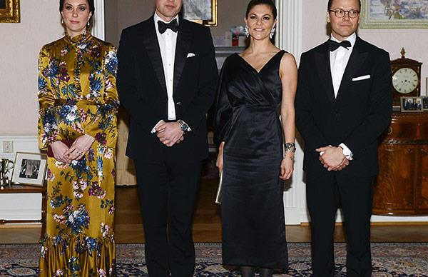 Duchess Catherine, Prince William, Princess Victoria, Prince Daniel