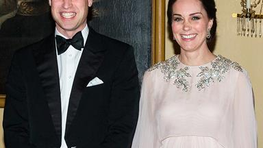 Duchess Catherine is a vision in a glittering gown at royal gala in Norway with Prince William