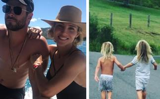 Thor, blimey! Chris Hemsworth and Elsa Pataky's most loved-up family moments