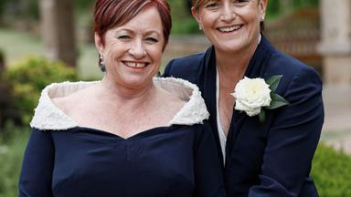 Happy news! Tony Abbott's sister Christine Forster weds partner Virginia Edwards in Sydney