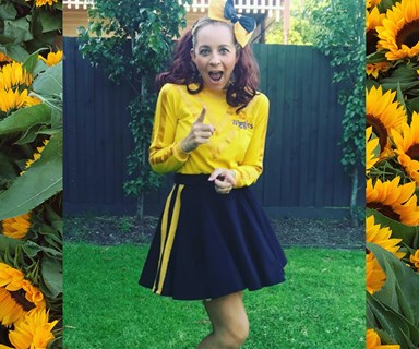 Reason 6578 why Carrie Bickmore (dressed up as a Wiggle) is the definition of #mumgoals