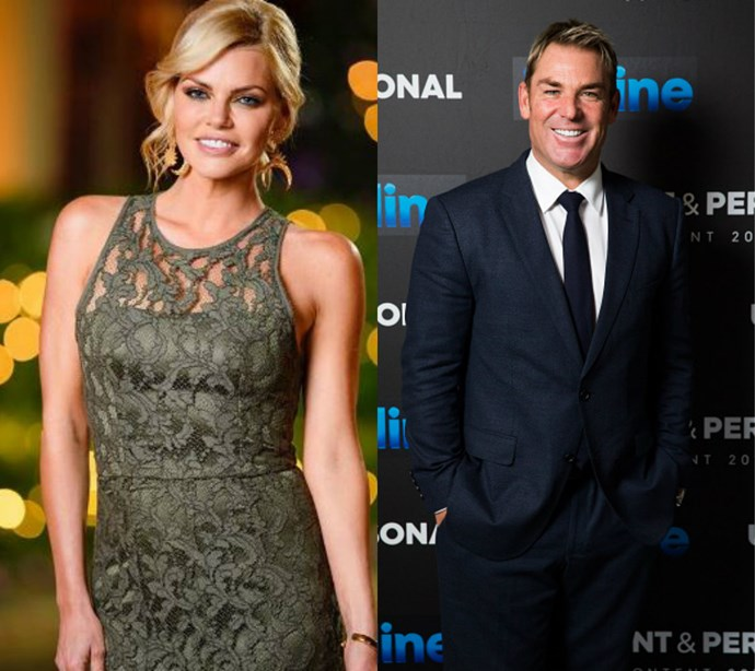 Sophie Monk and Shane Warne