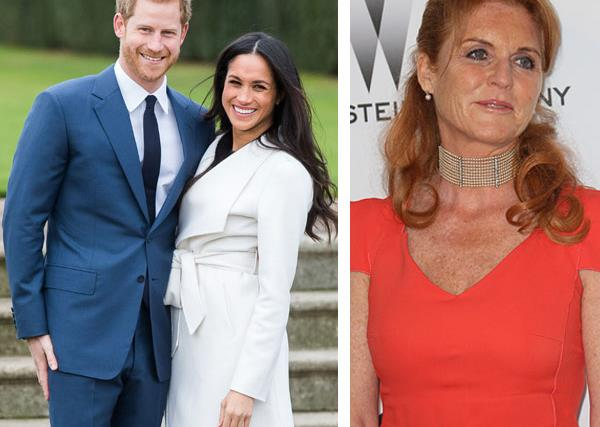Prince Harry and Meghan Markle and Fergie