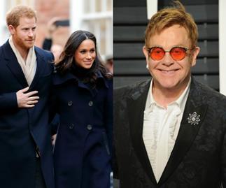Elton John, Prince Harry, Meghan Markle