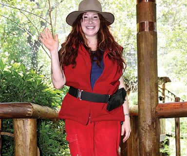 The first one out! I'm A Celebrity's Tiffany is singing all the way home