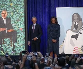 "Barack Obama praises artist for capturing the intelligence, charm ""and hotness"" of Michelle Obama"