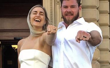 Frances Abbott marries Sam Loch in surprise Valentine's Day ceremony