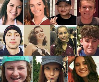 """""""Hugs to all and hold your children tight,"""" tributes for Florida school shooting victims"""