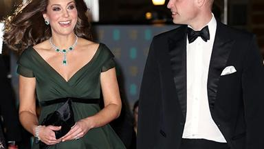 Pregnant Duchess Kate and her bump are a sweeping beauty at the BAFTAs 2018
