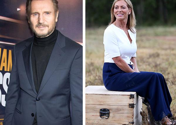 Liam Neeson and Kerry Armstrong