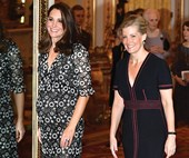 Duchess Catherine and Sophie of Wessex go vogue at Buckingham Palace