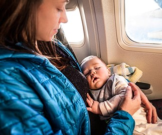 how to stop baby crying long haul flight