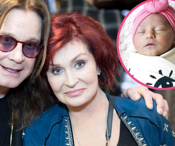 Check out the super adorable first pics of Ozzy and Sharon Osbourne's baby granddaughter