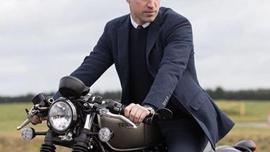 Born to be wild: Prince William is the ultimate cool dad atop a motorcycle