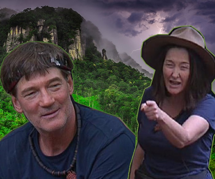 Fiona takes 'racist' David Oldfield to town on I'm A Celeb and it's the best thing we've ever seen!