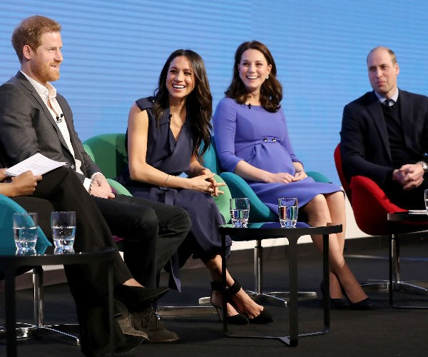 "The royal foursome were at an event called ""Making a Difference Together"", showcasing the programs run by The Royal Foundation."