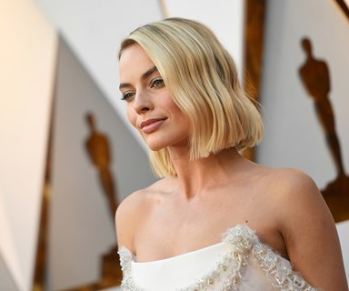 Our golden girl is here! Best Actress nominee Margot Robbie has arrived at the Academy Awards