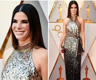 Sandra Bullock sparks plastic surgery rumors on the 2018 Oscars red carpet