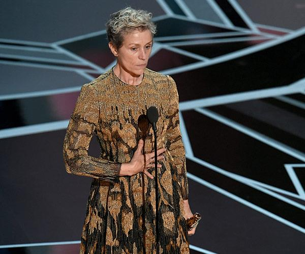 Frances McDormand won best actress for her performance in *Three Billboards Outside Ebbing, Missouri* and gave the speech of the night. Watch in the player below.