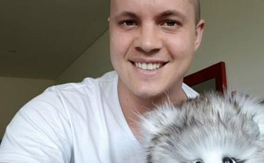 Johnny Ruffo joins charity walk for children with muscular dystrophy just hours after chemotherapy