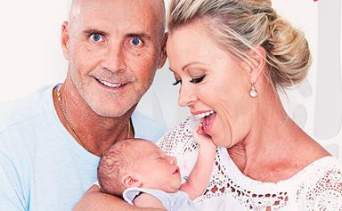 """""""He's perfect and we're absolutely obsessed!"""" Lisa Curry and Grant Kenny introduce their grandson"""