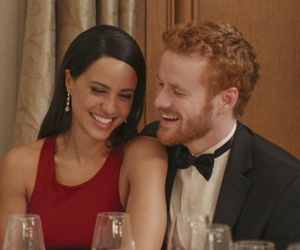 Parisa Fitz-Henley as Meghan and Murray Fraser as Prince Harry in their cheesy Lifetime movie.