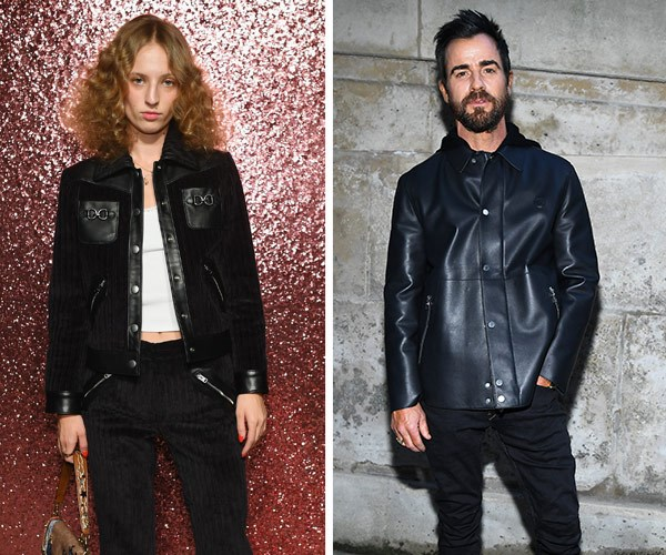 Justin Theroux and Petra Collins