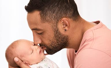 """EXCLUSIVE: Meet NRL's Benji Marshall and his wife Zoe's """"miracle"""" baby"""