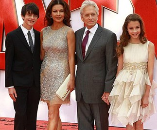 Catherine Zeta Jones and her fam