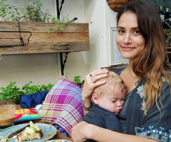 Former Neighbours star Natalie Hoflin 'shamed' for breastfeeding her 19-month-old son