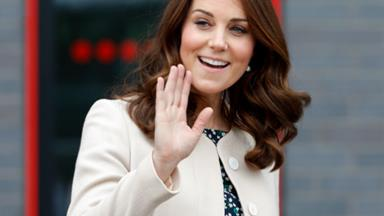 Duchess Catherine glows as she steps out for her last engagement before maternity leave