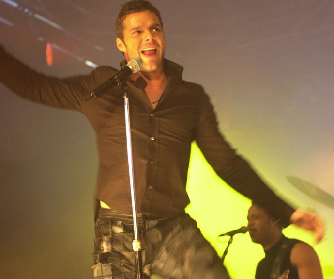 "*Ricky Martin*  Years before he became a regular on The Voice Australia, Ricky blew away  the 2001 Logies audience with his rendition of ""She Bangs"". Dancers made their way into the crowd to line the stage for a whirlwind performance. It was full  of passion and complete with a glitter cannon."