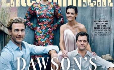Michelle Williams and Katie Holmes reunite with Dawson's Creek cast for 20-year anniversary