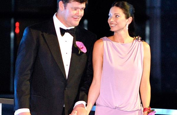 Erica Baxter and James Packer