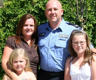 Jason Nelson and his family