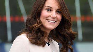 Heavily pregnant Kate Middleton is pictured doing the grocery shopping just days before her due date