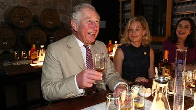 Cheers! Prince Charles raises a glass to the Aussie spirit in Bundaberg