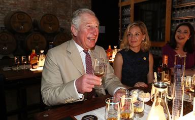 Cheers! Prince Charles raises a glass to the Aussie spirit in Bundaberg
