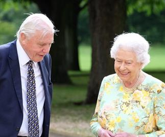 Queen Elizabeth and Sir David Attenborough