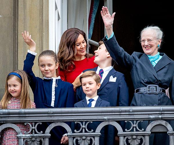 Princess Mary leads the Danish Royal Family in celebration of Queen Margrethe's birthday